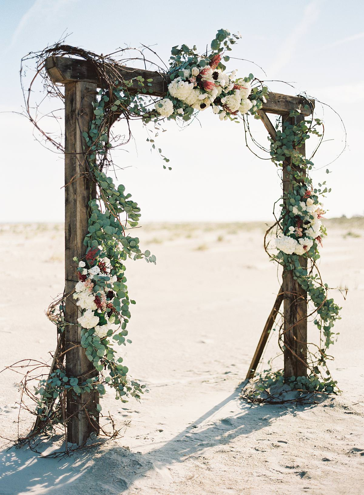 beautiful floral wedding arch