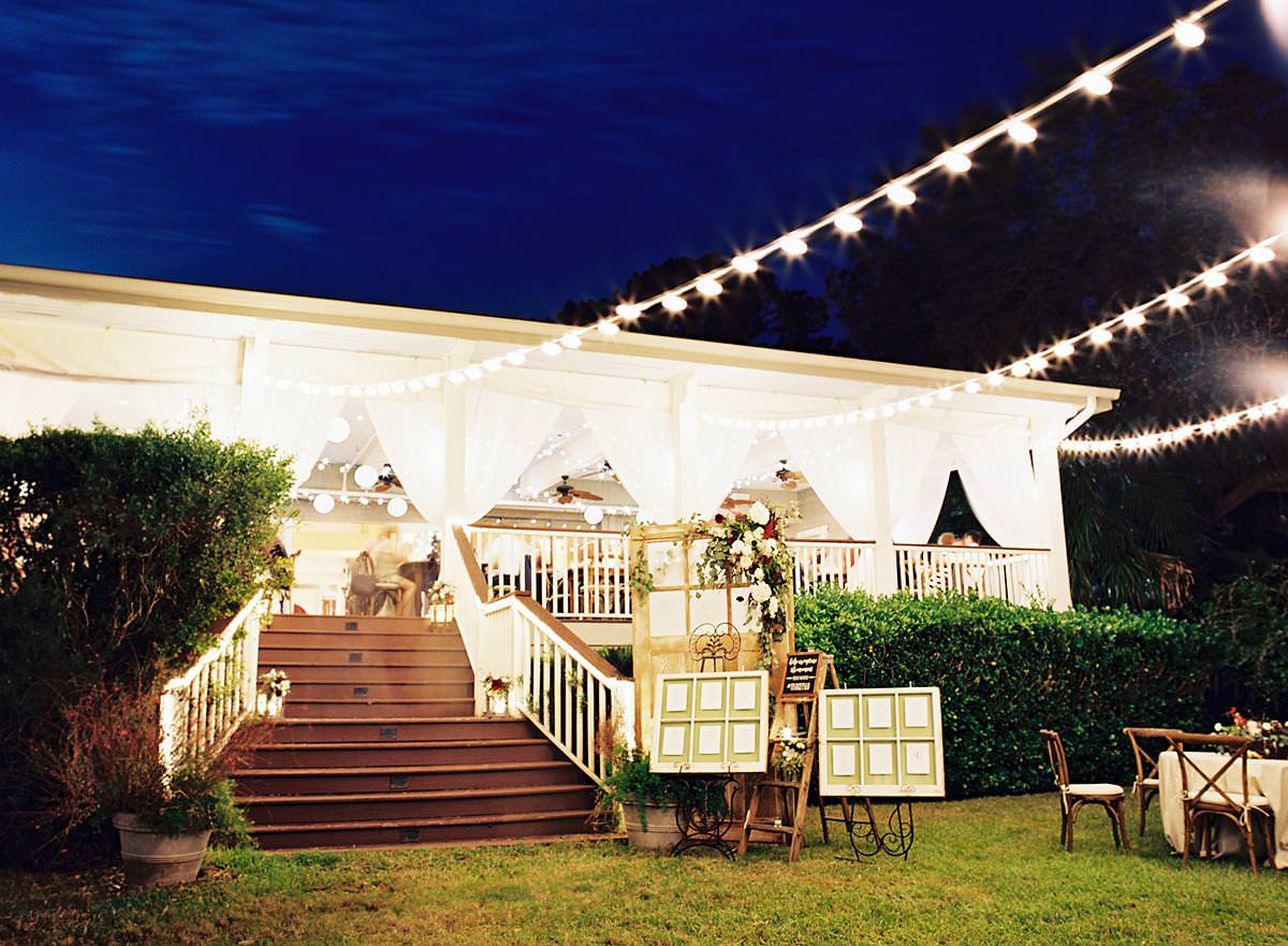 nighttime outdoor reception