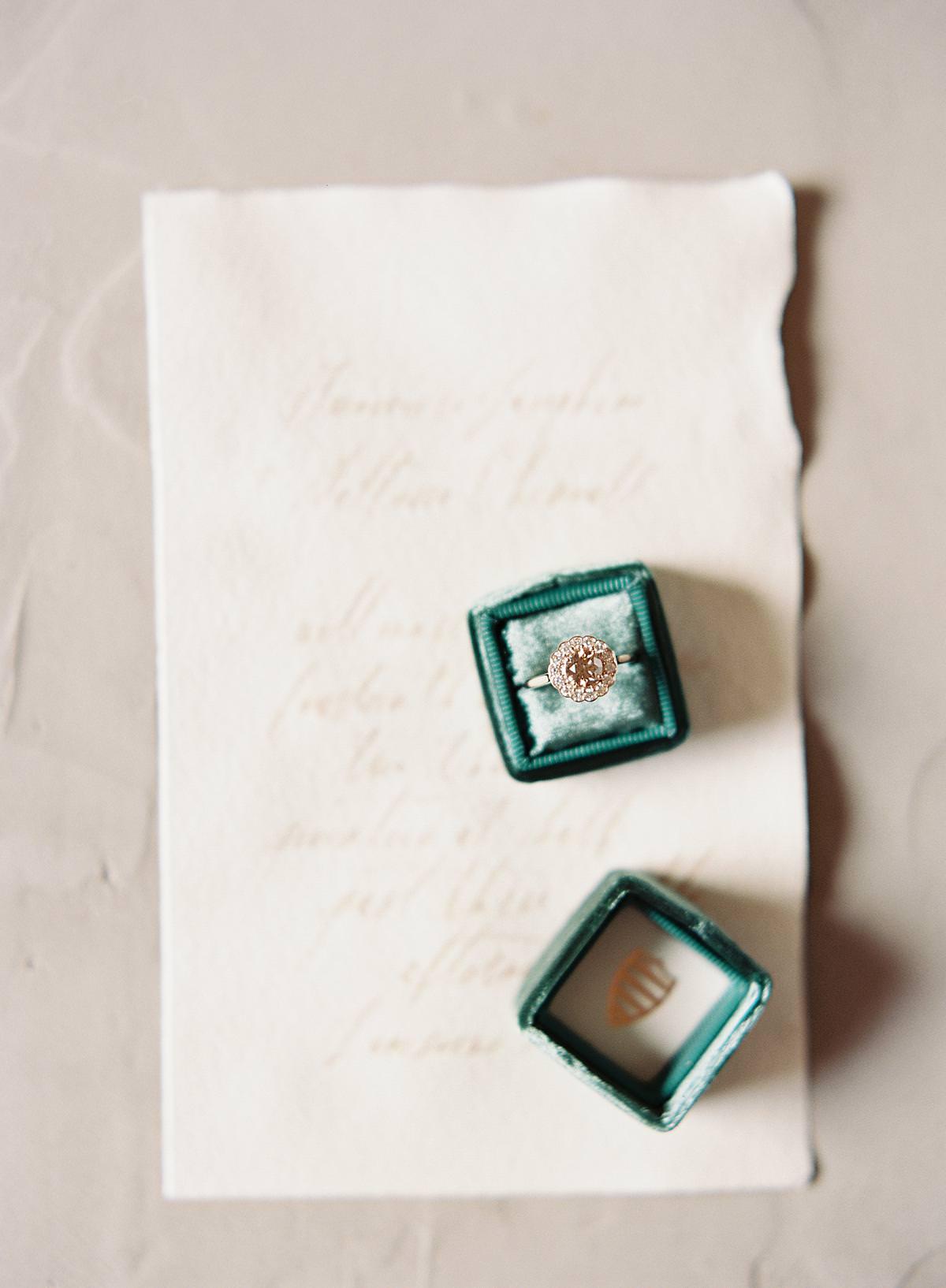 wedding ring on film