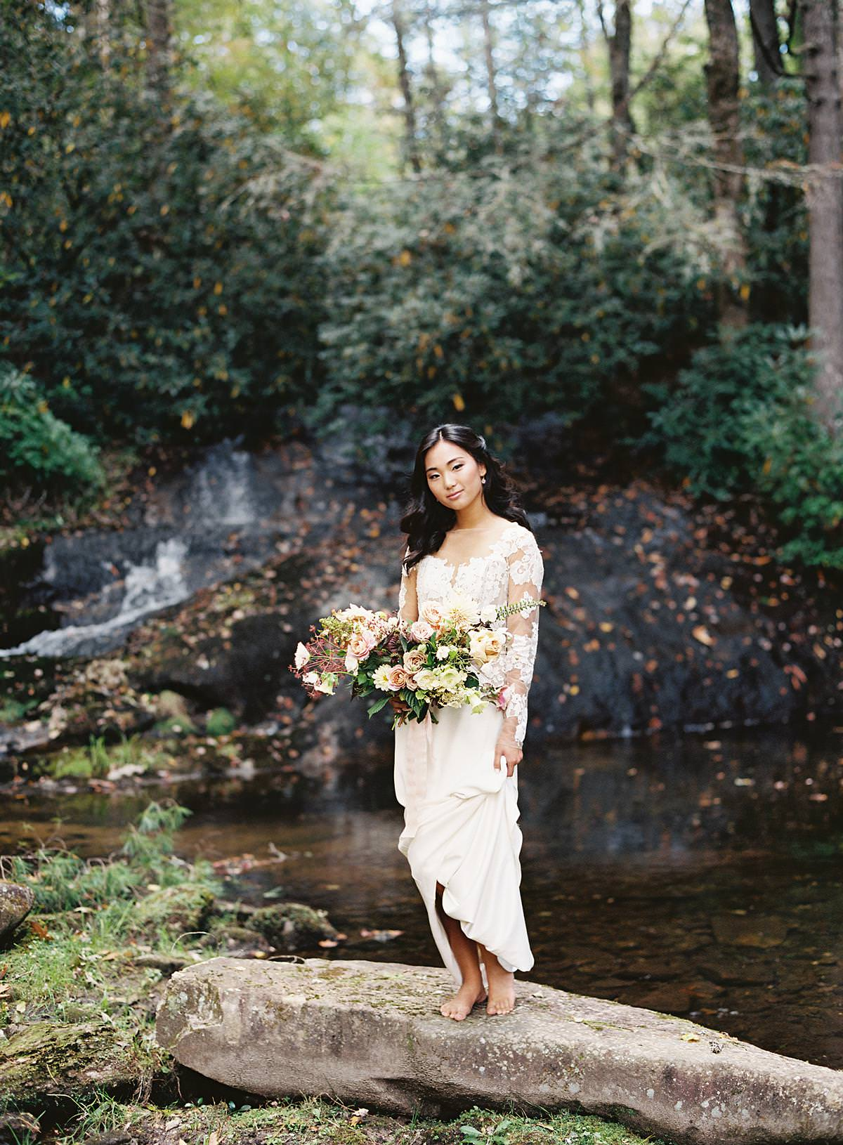 simple bridal portrait