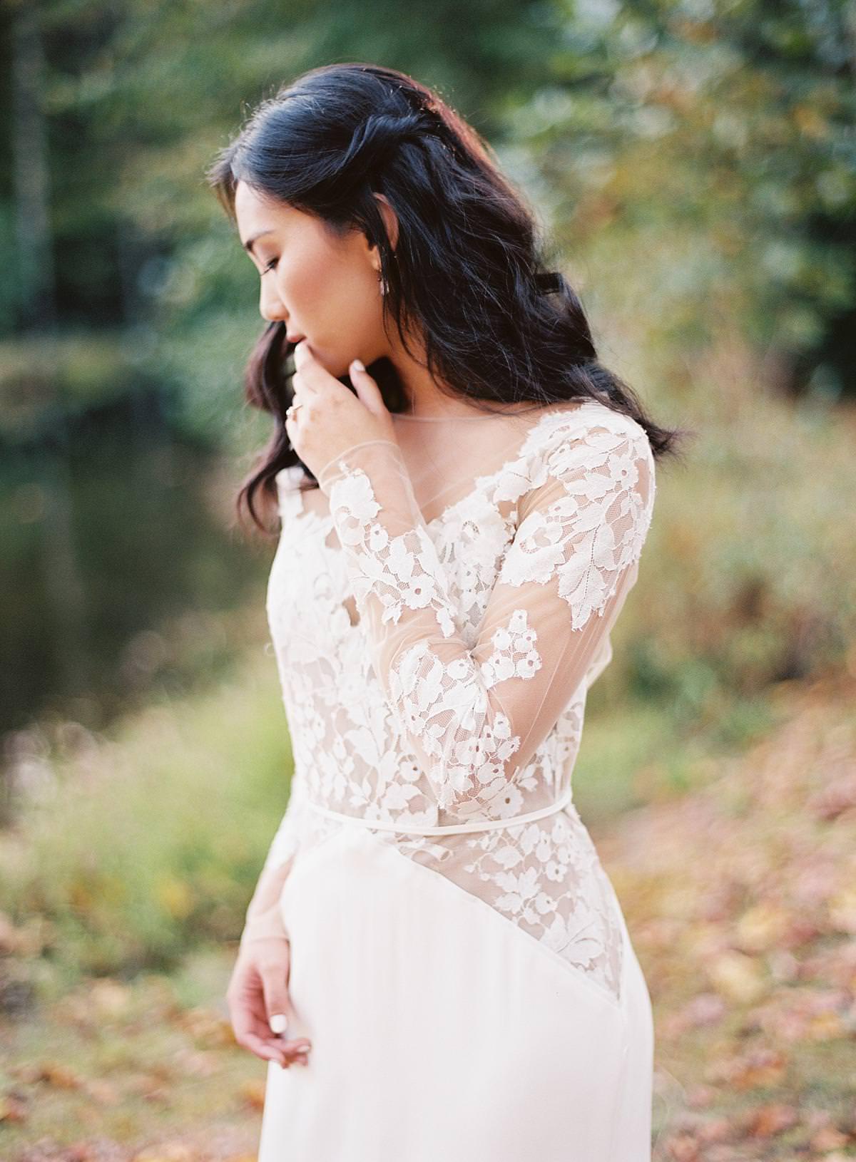 intimate bridal portrait