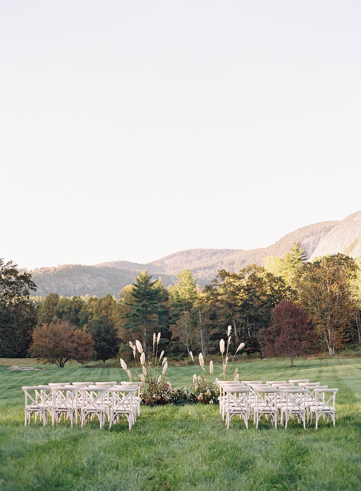 sunset mountain wedding