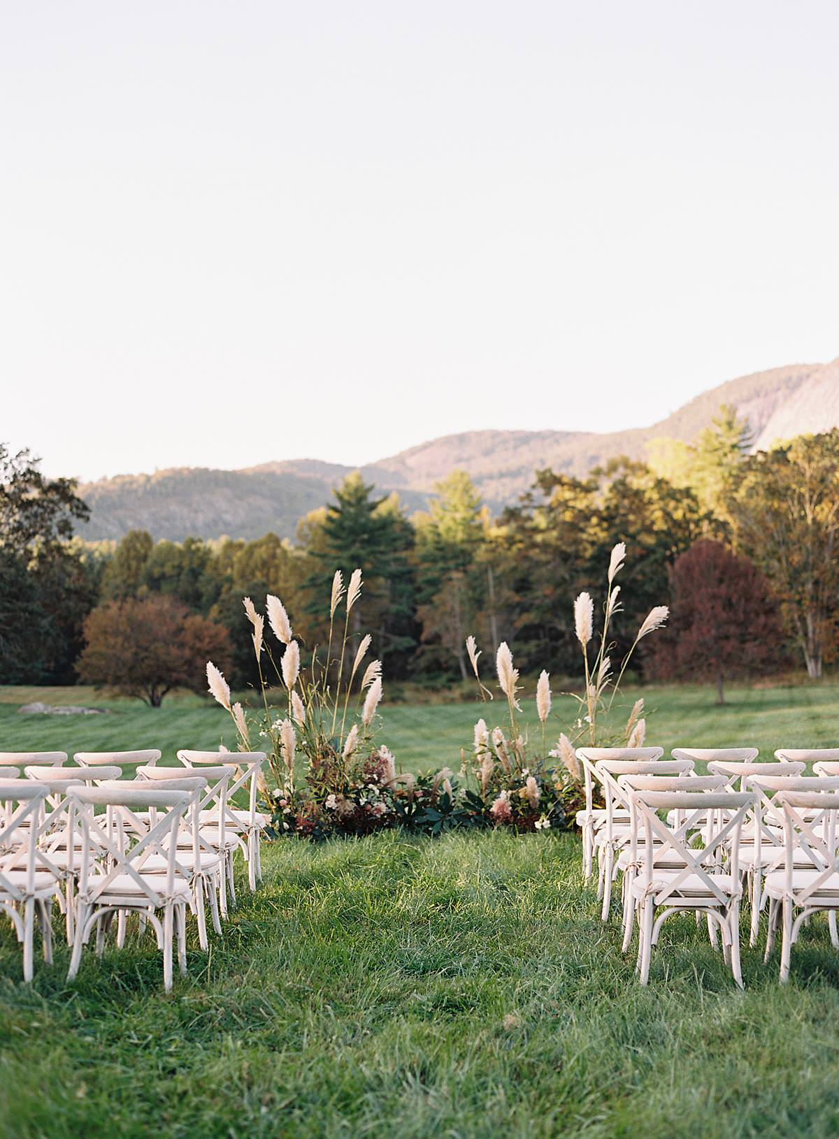 outdoor mountain wedding