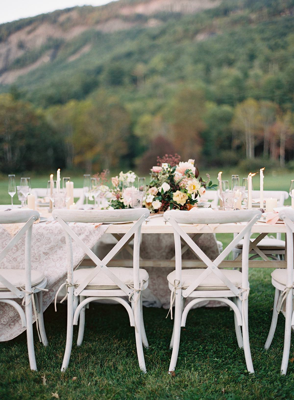 whitewashed cross back chairs